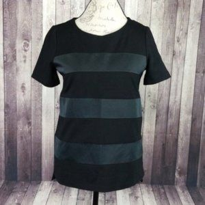 Madewell Satin Stripe Night Out Tee in Black